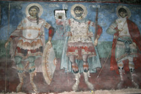 Fresco in St Nicholas church in Voskopoje