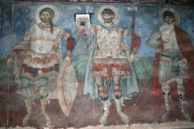 Fresco in St Nicholas church in Voskopoje