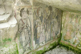 Fresco at the main chapel of the Durres amphitheater