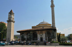 Et'hem Bey Mosque and Clock Tower in Tirane