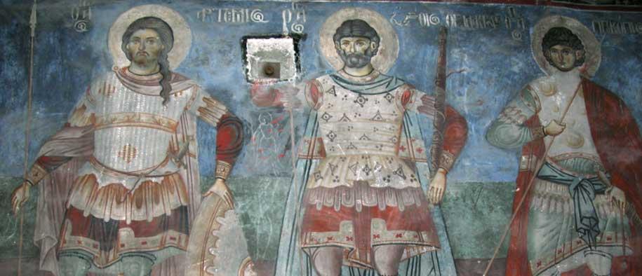 Fresco in St. Nicholas, Voskopoje